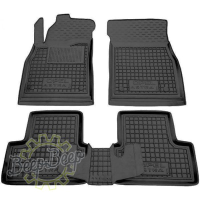 AV-G Car Floor Mats for OPEL ASTRA J 2010—2015 Custom Fit All Weather Liners - Picture 1