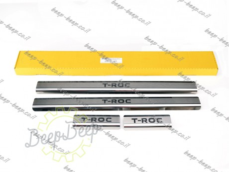 N.Niko Door sill lining for VOLKSWAGEN T-ROC 2018—2021 Chrome Scuff Plate Cover - Picture 1