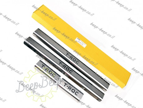 N.Niko Door sill lining for VOLKSWAGEN T-ROC 2018—2021 Chrome Scuff Plate Cover - Picture 2
