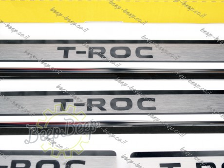 N.Niko Door sill lining for VOLKSWAGEN T-ROC 2018—2021 Chrome Scuff Plate Cover - Picture 3