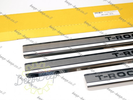 N.Niko Door sill lining for VOLKSWAGEN T-ROC 2018—2021 Chrome Scuff Plate Cover - Picture 4