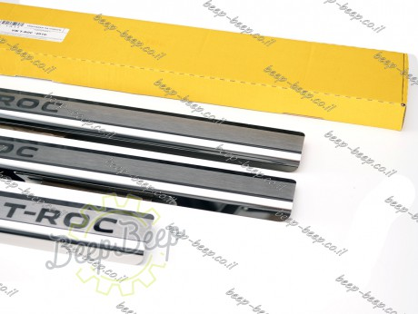 N.Niko Door sill lining for VOLKSWAGEN T-ROC 2018—2021 Chrome Scuff Plate Cover - Picture 7