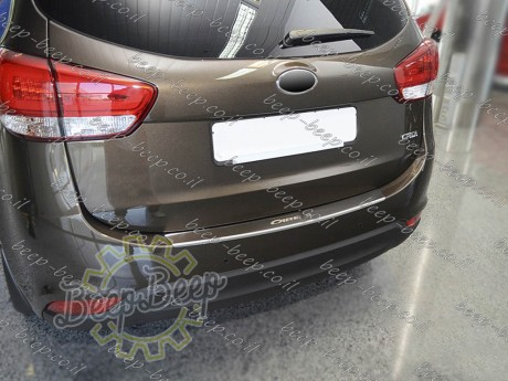 N.Niko Rear Bumper Lining / Chrome Cover Protector for KIA CARENS IV 2013—2020 - Picture 8