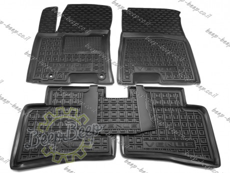 AV-G Car Floor Mats for HYUNDAI VENUE 2019—2021 Custom Fit All Weather Liners - Picture 1