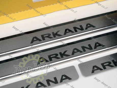 N.Niko Door sill lining for RENAULT ARKANA 2019—2022 Chrome Scuff Plate Cover - Picture 4