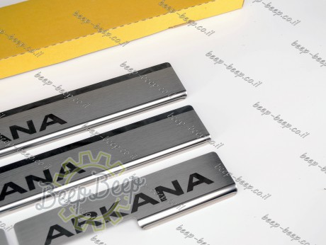 N.Niko Door sill lining for RENAULT ARKANA 2019—2022 Chrome Scuff Plate Cover - Picture 6