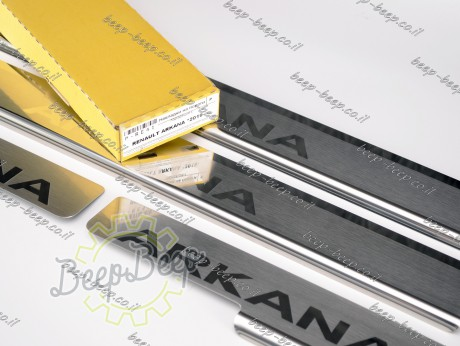 N.Niko Door sill lining for RENAULT ARKANA 2019—2022 Chrome Scuff Plate Cover - Picture 8