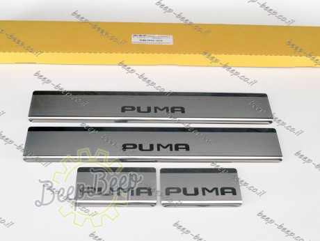 N.Niko Door sill lining for FORD PUMA I 2019—2022 Chrome Scuff Plate Cover - Picture 1