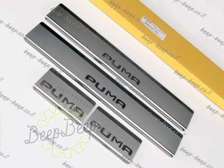 N.Niko Door sill lining for FORD PUMA I 2019—2022 Chrome Scuff Plate Cover - Picture 2