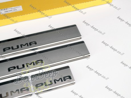 N.Niko Door sill lining for FORD PUMA I 2019—2022 Chrome Scuff Plate Cover - Picture 6