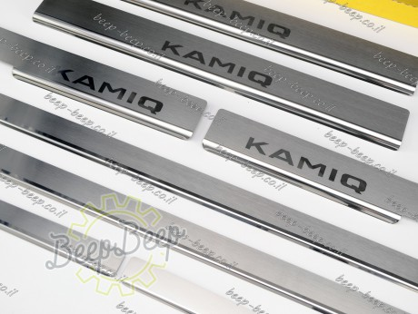 N.Niko Door sill lining for SKODA KAMIQ I 2019—2021 Chrome Scuff Plate Cover - Picture 5