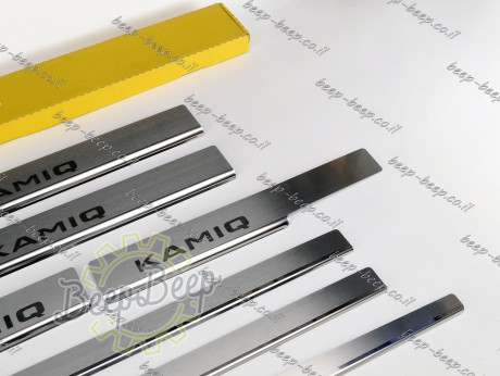 N.Niko Door sill lining for SKODA KAMIQ I 2019—2021 Chrome Scuff Plate Cover - Picture 6
