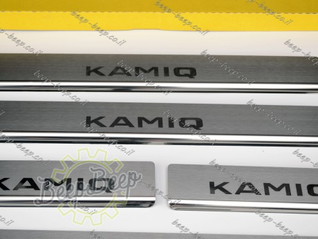 N.Niko Door sill lining for SKODA KAMIQ I 2019—2021 Chrome Scuff Plate Cover - Picture 7