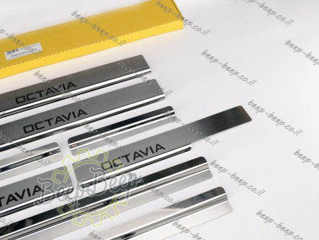 N.Niko Door sill lining for SKODA OCTAVIA IV 2020—2021 Chrome Scuff Plate Cover - Picture 6