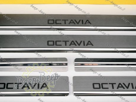 N.Niko Door sill lining for SKODA OCTAVIA IV 2020—2021 Chrome Scuff Plate Cover - Picture 7