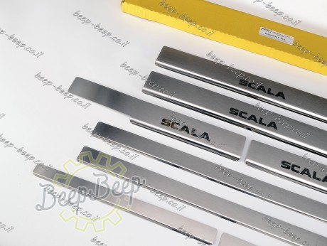 N.Niko Door sill lining for SKODA SCALA I 2019—2021 Chrome Scuff Plate Cover - Picture 3