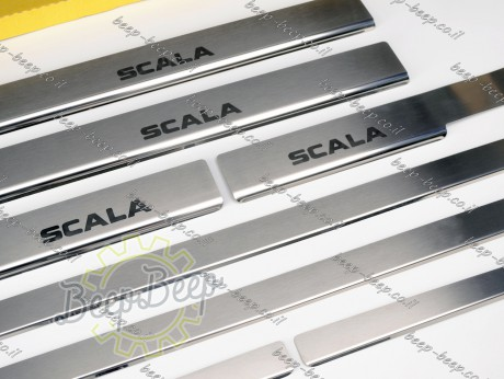 N.Niko Door sill lining for SKODA SCALA I 2019—2021 Chrome Scuff Plate Cover - Picture 4