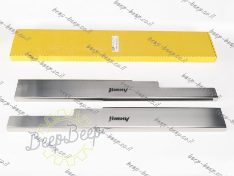 N.Niko Door sill lining for SUZUKI JIMNY IV 2019—2021 Chrome Scuff Plate Cover - Picture 1