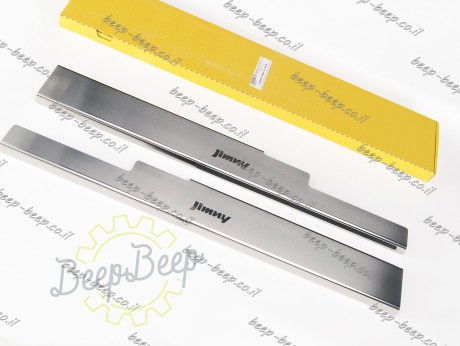 N.Niko Door sill lining for SUZUKI JIMNY IV 2019—2021 Chrome Scuff Plate Cover - Picture 2