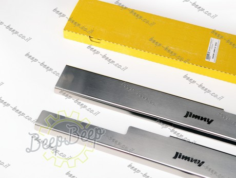 N.Niko Door sill lining for SUZUKI JIMNY IV 2019—2021 Chrome Scuff Plate Cover - Picture 3