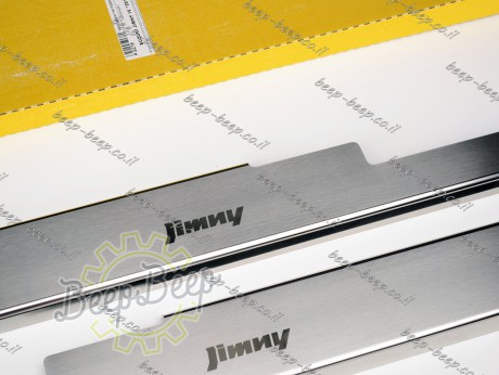 N.Niko Door sill lining for SUZUKI JIMNY IV 2019—2021 Chrome Scuff Plate Cover - Picture 4