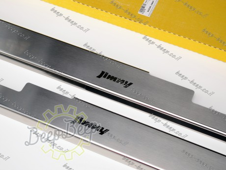 N.Niko Door sill lining for SUZUKI JIMNY IV 2019—2021 Chrome Scuff Plate Cover - Picture 5
