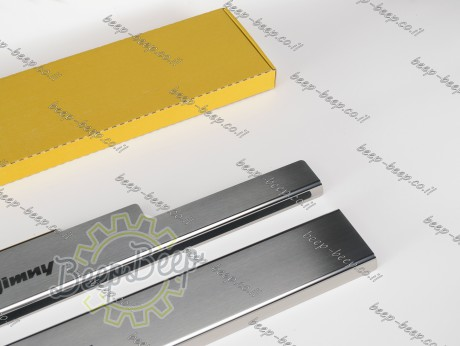 N.Niko Door sill lining for SUZUKI JIMNY IV 2019—2021 Chrome Scuff Plate Cover - Picture 6