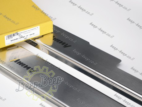 N.Niko Door sill lining for SUZUKI JIMNY IV 2019—2021 Chrome Scuff Plate Cover - Picture 8