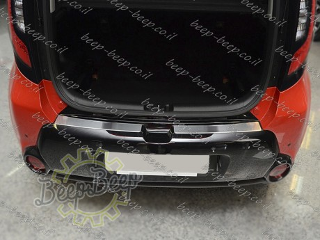 N.Niko Rear Bumper Lining for KIA SOUL II 2014—2019 Chrome Cover Protector - Picture 8