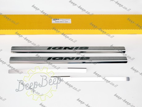 N.Niko Door sill lining for SUZUKI IGNIS 2017—2021 Chrome Scuff Plate Cover - Picture 1
