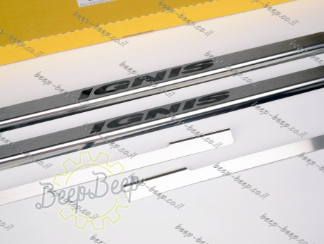N.Niko Door sill lining for SUZUKI IGNIS 2017—2021 Chrome Scuff Plate Cover - Picture 4