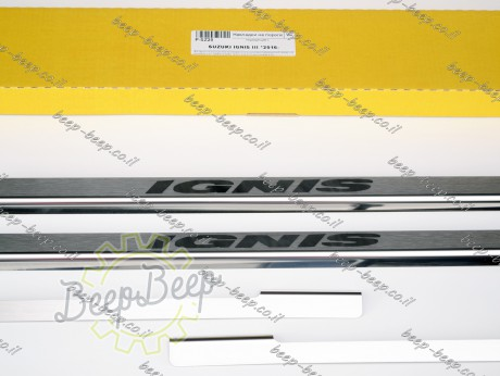 N.Niko Door sill lining for SUZUKI IGNIS 2017—2021 Chrome Scuff Plate Cover - Picture 7