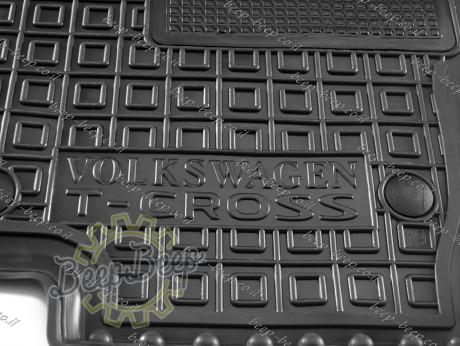 AV-G Car Floor Mats for VOLKSWAGEN T-CROSS 2019—2022 Custom Fit All Weather Liners - Picture 12
