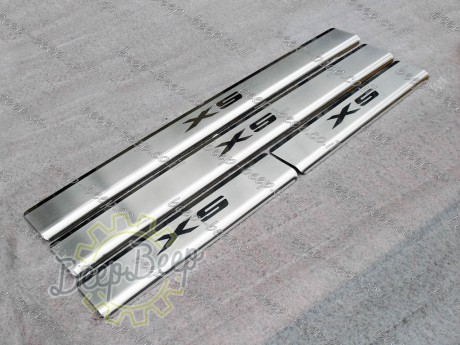 N.Niko Door sill lining / Chrome cover / Scuff plate for BMW X5 F15 2014—2018 - Picture 6