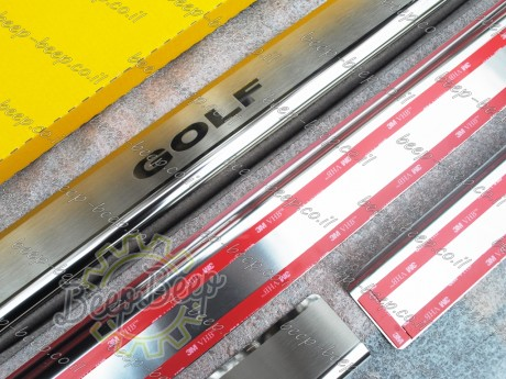 N.Niko Door sill lining / Chrome cover / Scuff plate for VOLKSWAGEN GOLF 7 2015—2019 - Picture 7