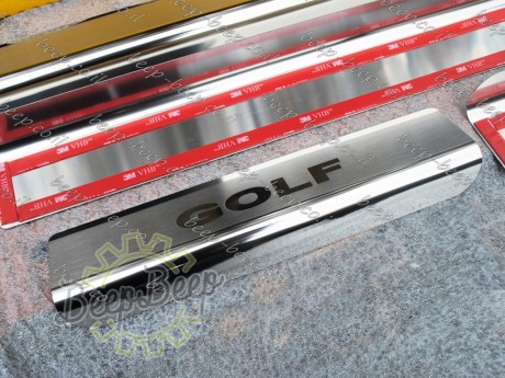 N.Niko Door sill lining / Chrome cover / Scuff plate for VOLKSWAGEN GOLF 7 2015—2019 - Picture 8