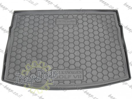 AV-G Fully Tailored Rubber / Cargo Mat Tray Trunk Boot Liner for VOLKSWAGEN GOLF 7 HATCHBACK 2015—2018 - Picture 1