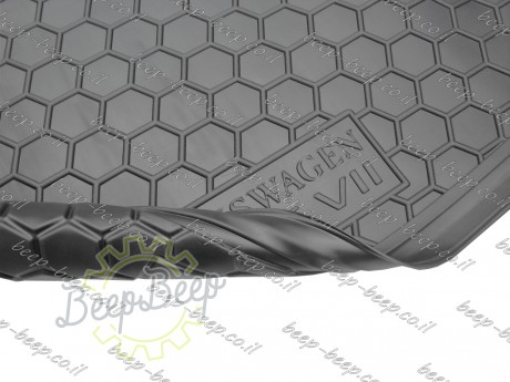 AV-G Fully Tailored Rubber / Cargo Mat Tray Trunk Boot Liner for VOLKSWAGEN GOLF 7 HATCHBACK 2015—2018 - Picture 8