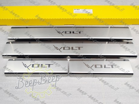 N.Niko Door sill lining / Chrome cover / Scuff plate for CHEVROLET VOLT I 2010—2015 - Picture 1