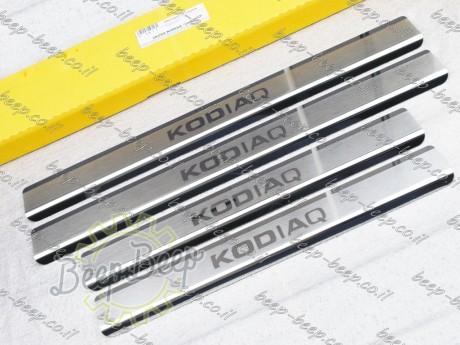N.Niko Door sill lining / Chrome cover / Scuff plate for SKODA KODIAQ I 2016—2019 - Picture 1