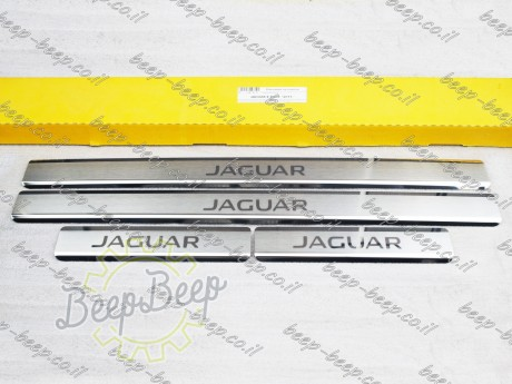 N.Niko Door sill lining for JAGUAR E-PACE 2017—2020 Chrome Scuff Plate Cover - Picture 1