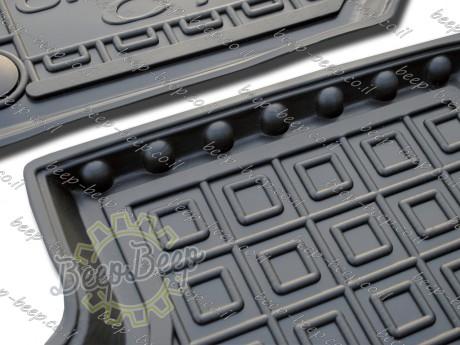 AV-G Fully Tailored Rubber / Set of 5 Car Floor Mats Carpet for CITROEN C1 II 2018—2020 - Picture 3