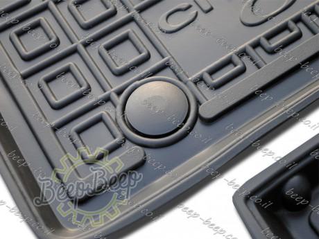 AV-G Fully Tailored Rubber / Set of 5 Car Floor Mats Carpet for CITROEN C1 II 2018—2020 - Picture 6