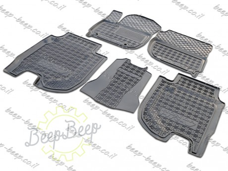 AV-G Fully Tailored Rubber / Set of 5 Car Floor Mats Carpet for HONDA HR-V II 2015—2020 - Picture 1