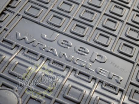 AV-G Fully Tailored Rubber / Set of 5 Car Floor Mats Carpet for JEEP WRANGLER UNLIMITED JK 2014—2017 - Picture 1