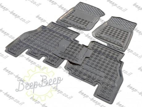 AV-G Fully Tailored Rubber / Set of 5 Car Floor Mats Carpet for JEEP WRANGLER UNLIMITED JK 2014—2017 - Picture 2