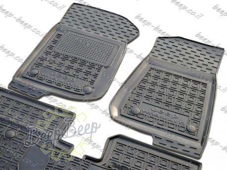 AV-G Fully Tailored Rubber / Set of 5 Car Floor Mats Carpet for JEEP WRANGLER UNLIMITED JK 2014—2017 - Picture 4