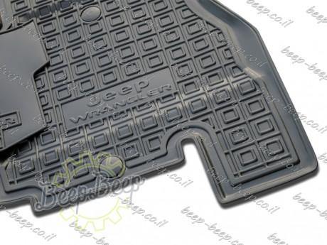 AV-G Fully Tailored Rubber / Set of 5 Car Floor Mats Carpet for JEEP WRANGLER UNLIMITED JK 2014—2017 - Picture 5