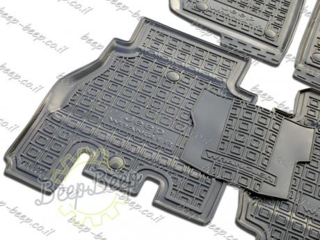 AV-G Fully Tailored Rubber / Set of 5 Car Floor Mats Carpet for JEEP WRANGLER UNLIMITED JK 2014—2017 - Picture 7