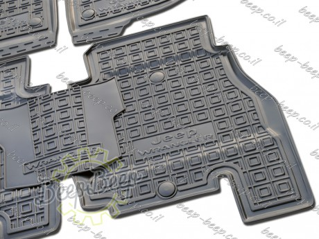 AV-G Fully Tailored Rubber / Set of 5 Car Floor Mats Carpet for JEEP WRANGLER UNLIMITED JK 2014—2017 - Picture 8